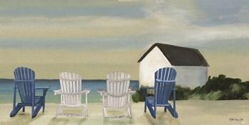 Beach Chairs Panorama by Stellar Design Studio art print