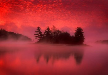 Islands In The Pink by Patrick Zephyr art print