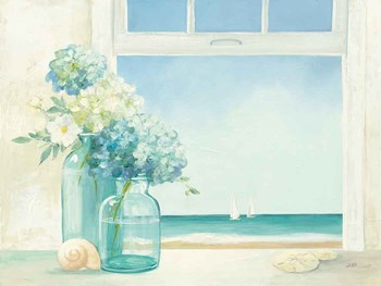 Seaside Hydrangea by Julia Purinton art print