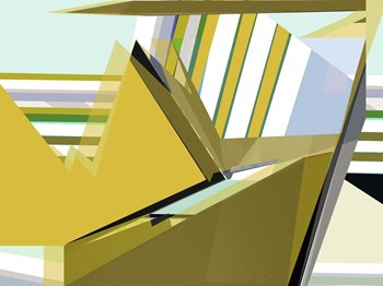 Yellow Mountains I by Cartissi art print