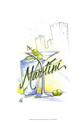 Drink Up...Martini by Jay Throckmorton art print
