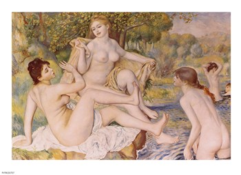 Bathers by Pierre-Auguste Renoir art print