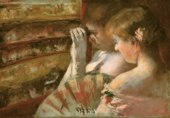 In The Box by Mary Cassatt art print