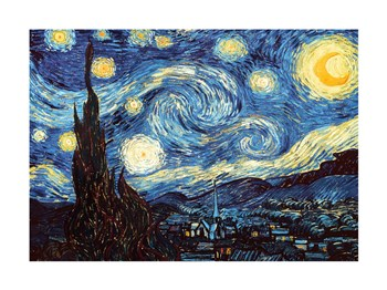 The Starry Night, June 1889 by Vincent Van Gogh art print