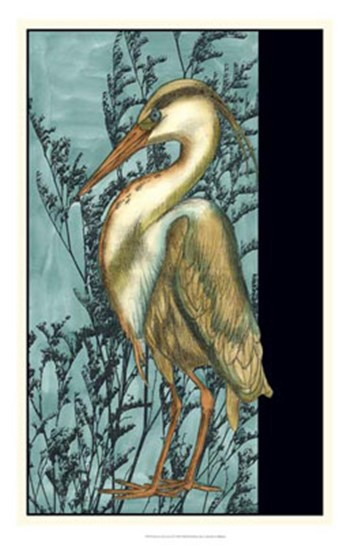 Heron in the Grass II by Jennifer Goldberger art print