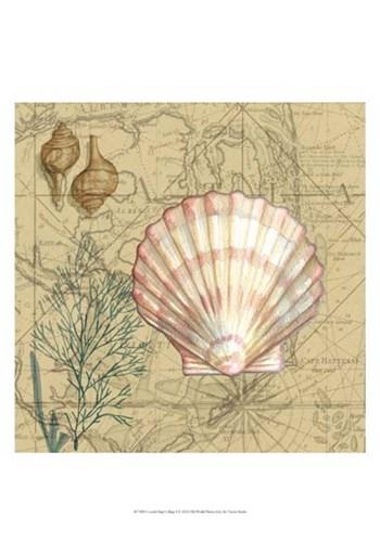 Coastal Map Collage I by Vision Studio art print
