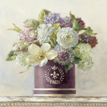Tulips in Aubergine Hatbox by Danhui Nai art print