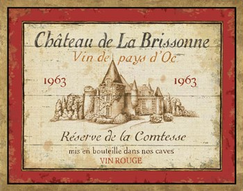 French Wine Labels I by Daphne Brissonnet art print