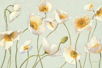 White and Bright Poppies by Shirley Novak art print