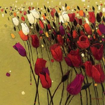 Tulip Drift Green by Shirley Novak art print