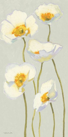 White on White Poppies Panel II by Shirley Novak art print