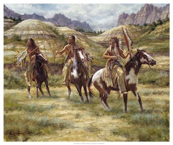 Warriors of the Badlands by James Ayers art print