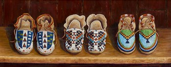 Family Moccasins by Marty LeMessurier art print