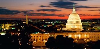 City at Dusk, Washington DC by Panoramic Images art print