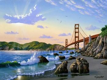 Golden Gate Sunset, CA 2 by Eduardo Camoes art print