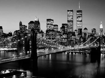 Brooklyn Bridge, NYC BW by Richard Berenholtz art print