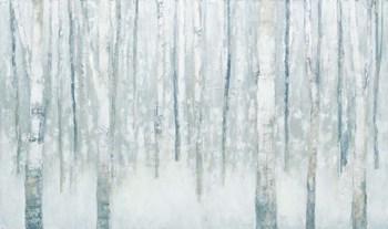 Birches in Winter Blue Gray by Julia Purinton art print