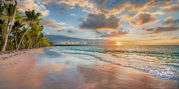 Beach in Maui, Hawaii, at sunset by Pangea Images art print