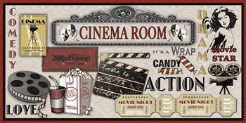 Cinema Room by Jean Plout art print