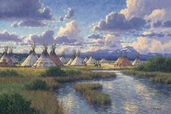 Chief Joseph Of The Nez Perce by Randy Van Beek art print