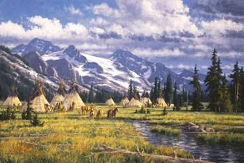 Nez Perce Summer Camp by Randy Van Beek art print