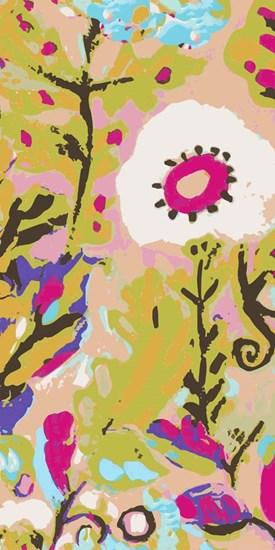 Pink Boho Floral II by Karen Fields art print