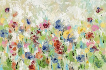 Springtime Meadow Flowers by Silvia Vassileva art print