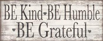 Kind Humble Grateful Wood Sign by Jen Killeen art print