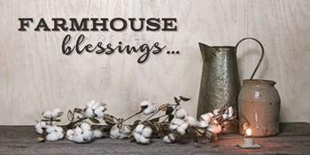 Farmhouse Blessings by Susie Boyer art print
